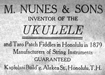 Etiqueta 'ukulele Nunes