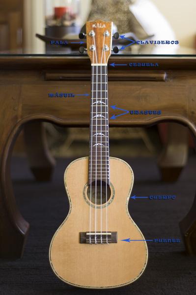 Partes ukulele